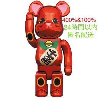 メディコムトイ(MEDICOM TOY)のBE@RBRICK 招き猫 梅金メッキ 400%+100%(その他)