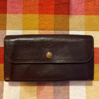 イルビゾンテ(IL BISONTE)のイルビゾンテ IL BISONTE 長財布 フラップ ブラウン(財布)