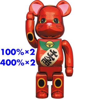 メディコムトイ(MEDICOM TOY)のBE@RBRICK 招き猫 梅金メッキ 100%400%×2セット(その他)