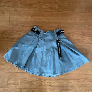 lovetoxic - 【ラブトキシック】Lovetoxic デニムスカート インナー付き Lサイズ