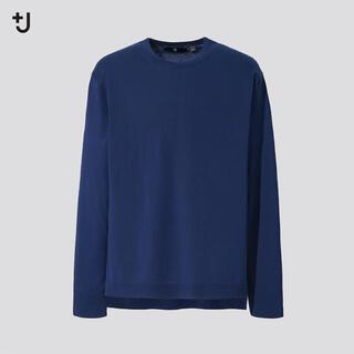 UNIQLO +J シルクコットンクルーネックセーター 67BLUE Mサイズ