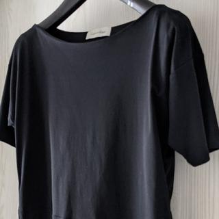 カルバンクライン(Calvin Klein)の【美品★ブラック】コットン100%✦中古✦(カットソー(半袖/袖なし))