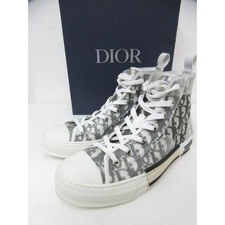 ディオール(Dior)のDIOR ディオール B23 ハイトップスニーカー オブリーク キャンバス 42(スニーカー)