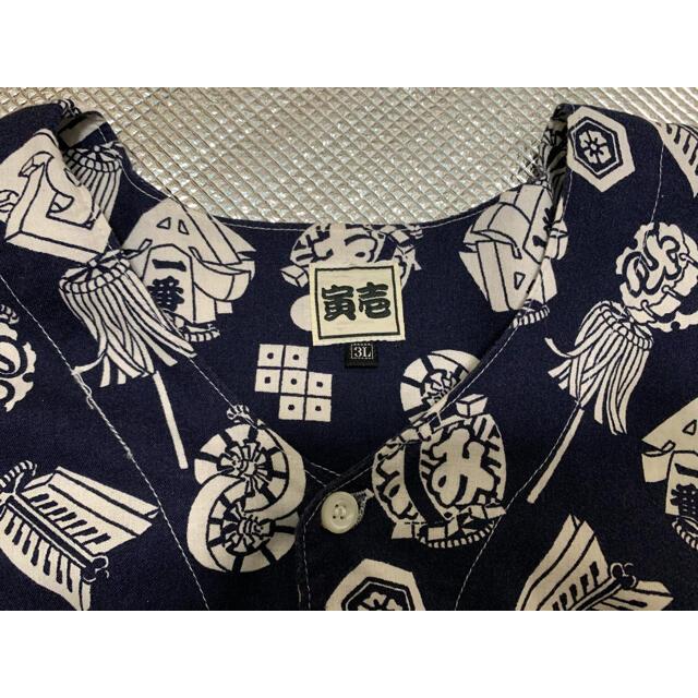 寅壱(トライチ)の寅壱 鯉口シャツ Lサイズ メンズのトップス(シャツ)の商品写真