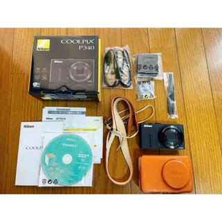 Nikon - Nikon COOLPIX P340 BLACK 純正ケース付、美品!
