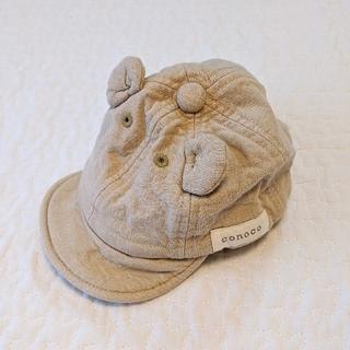 シマムラ(しまむら)の【Birthday】ベビー 帽子 キャップ バースデイ くま ベージュ(帽子)