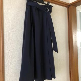 ヴィス(ViS)のVIS ネイビースカート(ロングスカート)