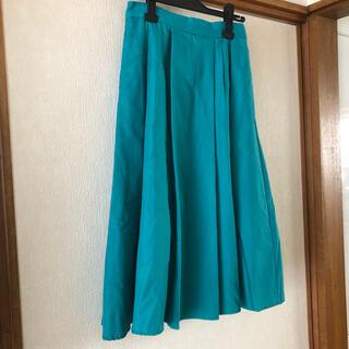 ヴィス(ViS)のVIS グリーンスカート(ひざ丈スカート)