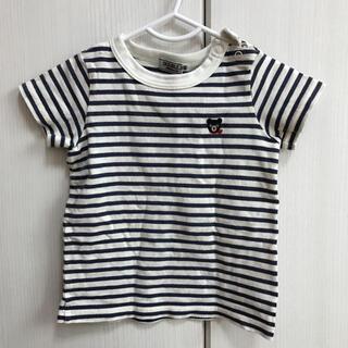 ダブルビー(DOUBLE.B)のダブルビー ボーダーTシャツ くまさん 男の子80(Tシャツ)