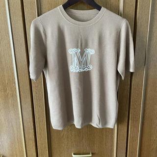 マックスマーラ(Max Mara)のシルク混トップス半袖(シャツ/ブラウス(半袖/袖なし))