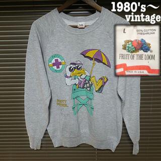 RRL - 1980's〜vintage sweat FRUIT OF THE LOOM