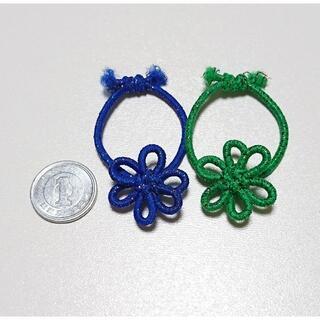 ラメ入り3個小さいヘアゴム オーダーメイド 花結び飾り結びメドゥプ(その他)