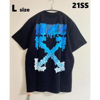 オフホワイト(OFF-WHITE)の21SS【新品】OFF-WHITE BLUE MAKER ロゴ Tシャツ L(Tシャツ/カットソー(半袖/袖なし))