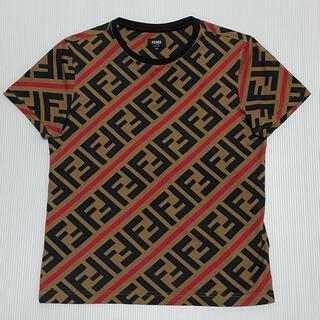 フェンディ(FENDI)のFENDI FFモノグラム コットンTシャツ XSサイズ(Tシャツ/カットソー(半袖/袖なし))