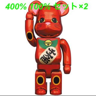 メディコムトイ(MEDICOM TOY)のBE@RBRICK 招き猫 梅金メッキ 400% 100% 2セット(その他)