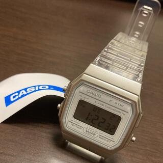 カシオ(CASIO)の値下げ 新品未使用 CASIO クリアウォッチ ホワイト チープカシオ 古着(腕時計(デジタル))