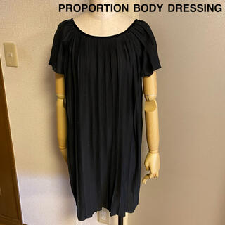 プロポーションボディドレッシング(PROPORTION BODY DRESSING)の【PROPORTION BODY DRESSING】プリーツ ワンピース(ミニワンピース)