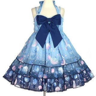アンジェリックプリティー(Angelic Pretty)のDream Marine Brilliant Colorジャンパースカート(ひざ丈ワンピース)