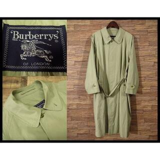 BURBERRY - 90s オールド バーバリーズ ベルト付き ロング トレンチ コート ベージュ
