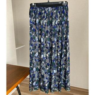 ロキト(LOKITHO)のクーポン sale lokitho ロキト 17ss 刺繍 レース スカート(ロングスカート)