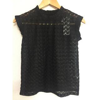 ジーユー(GU)の【GU/ジーユー】レースフリルTシャツ(ノースリーブ)150cm(Tシャツ/カットソー)