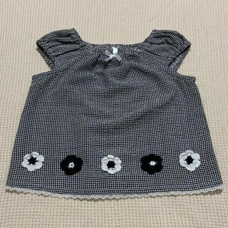 ニシマツヤ(西松屋)のベビー服 ノースリーブ トップス 80(タンクトップ/キャミソール)