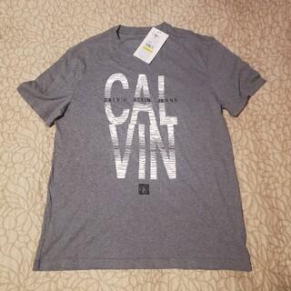 シーケーカルバンクライン(ck Calvin Klein)のcK カルバンクラインジーンズ メンズ ロゴ入りTシャツ US M(Tシャツ/カットソー(半袖/袖なし))