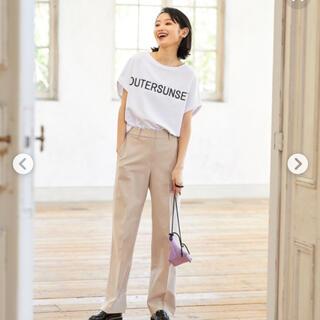 プラステ(PLST)のPLST限定 アウターサンセット ロゴTシャツ ホワイト(Tシャツ(半袖/袖なし))