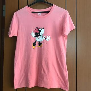 ユニクロ(UNIQLO)のユニクロ ミニーちゃんTシャツ ピンク(Tシャツ/カットソー)