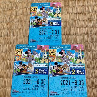 ディズニー(Disney)のディズニーリゾートライン フリー切符(鉄道乗車券)