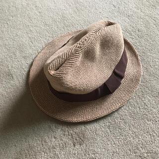 ジーユー(GU)の美品 ストローハット(帽子)