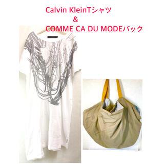 カルバンクライン(Calvin Klein)の【Calvin Klein】Tシャツ&【COMME CA DU MODE】バック(Tシャツ(半袖/袖なし))