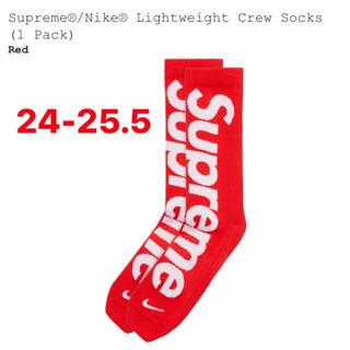 シュプリーム(Supreme)のSupreme Nike Lightweight Crew Socks サイズ2(ソックス)
