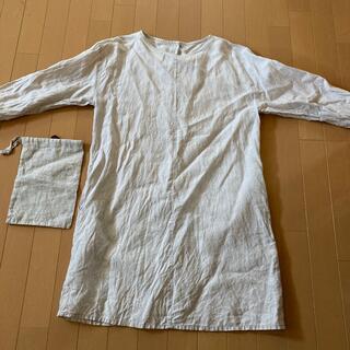ムジルシリョウヒン(MUJI (無印良品))の無印良品 麻 割烹着 MUJI(収納/キッチン雑貨)
