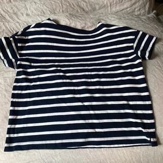 ムジルシリョウヒン(MUJI (無印良品))のMUJI 無印良品 ボーダー 綿Tシャツ ボートネック(Tシャツ(長袖/七分))