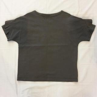 サクラ(SACRA)のSACRA◆袖フリル半袖ブラウス グレー(カットソー(半袖/袖なし))