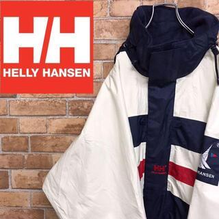 ヘリーハンセン(HELLY HANSEN)の【ヘリーハンセン】セーリングギア ワンポイント刺繍ロゴ ワッペン ビッグサイズ(ナイロンジャケット)