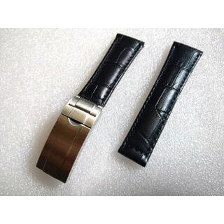 ロレックス(ROLEX)の新品 時計ベルト ロレックス対応 ブラック 社外品(レザーベルト)