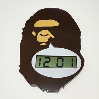 アベイシングエイプ(A BATHING APE)のAPE アベイシングエイプ ベイプヘッド壁掛け時計 ウォールクロック(掛時計/柱時計)