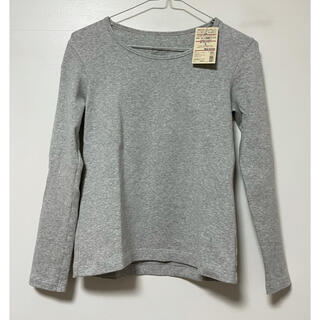 ムジルシリョウヒン(MUJI (無印良品))の新品タグ付 MUJI 無印良品 オーガニックコットン クルーネック長袖Tシャツ(Tシャツ(長袖/七分))