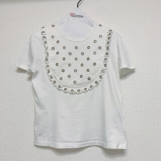 レッドヴァレンティノ(RED VALENTINO)のRED VALENTINO フリル Tシャツ XS(Tシャツ(半袖/袖なし))