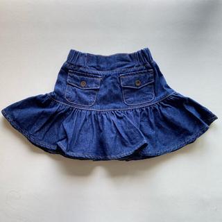 プティマイン(petit main)の新品 韓国子供服 プエラフロー デニム スカート フレア puellaflo(スカート)
