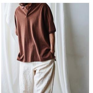 コモリ(COMOLI)のmaatee&sons スキッパーポロブラウン サイズ2(ポロシャツ)