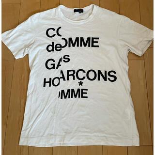 コムデギャルソンオムプリュス(COMME des GARCONS HOMME PLUS)のコムデギャルソン オム アーカイブ分離ロゴ ホワイト サイズS  《中古》(Tシャツ/カットソー(半袖/袖なし))
