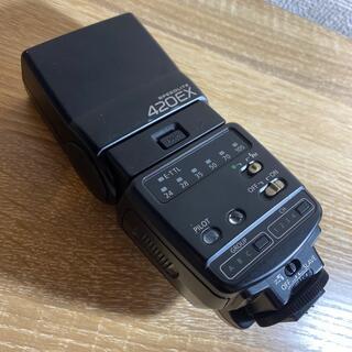 キヤノン(Canon)の美品!Canon SPEEDLITE 420EX  ストロボ(ストロボ/照明)