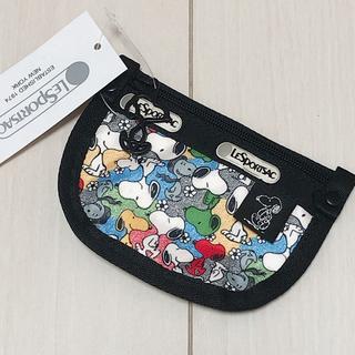 レスポートサック(LeSportsac)の新品 レスポートサック スヌーピー Snoopy コインケースキーリング付き(コインケース)