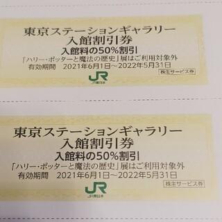 ジェイアール(JR)のJR東日本優待券の東京ステーションギャラリー半額割引券8枚300円、内容変更可能(美術館/博物館)