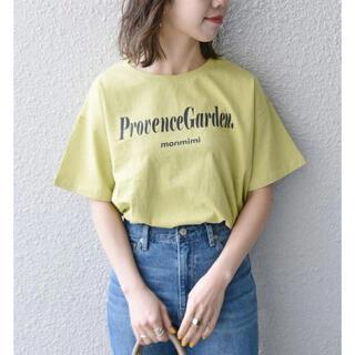 SHIPS any別注 MONMIMI: プリント Tシャツ2  ライトグリーン