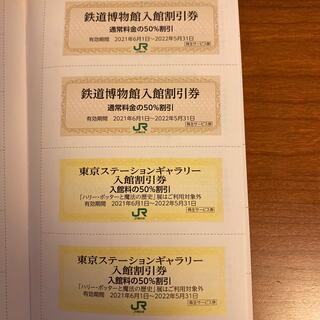 鉄道博物館入館割引券2枚&東京ステーションギャラリー入館割引券2枚セット(その他)