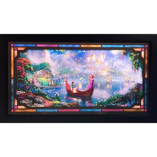 ディズニー(Disney)の超希少 トーマスキンケード ディズニー ラプンツェル ステンドグラス 額装(絵画/タペストリー)